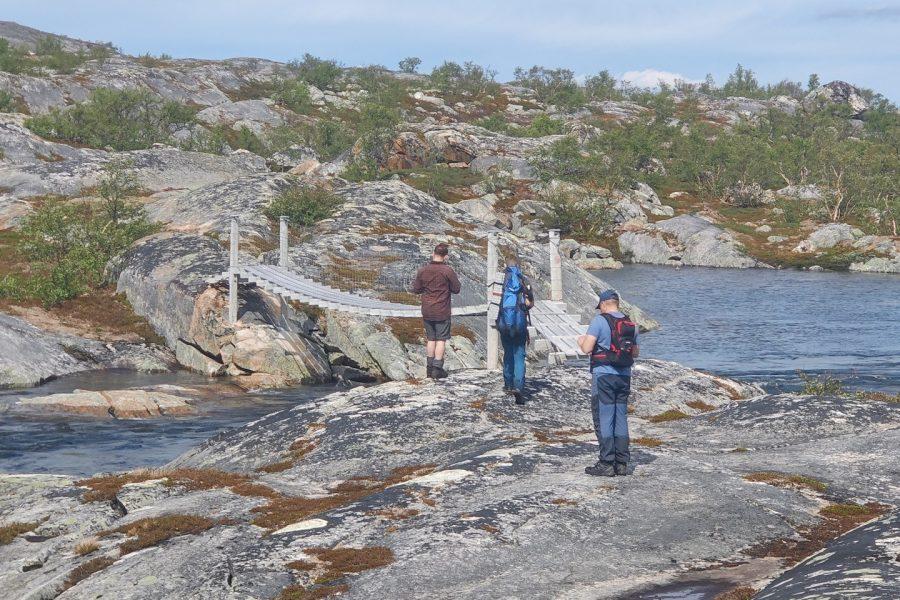 Den lengste turen gikk fra Lønsdal stasjon via Kjemåvannet, Kjemåga stasjon og ned til Skogvoktergården.